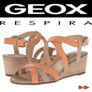 Sandale dama GEOX din piele portocalii