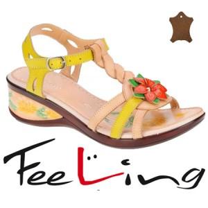 Sandale din piele pentru femei Feeling
