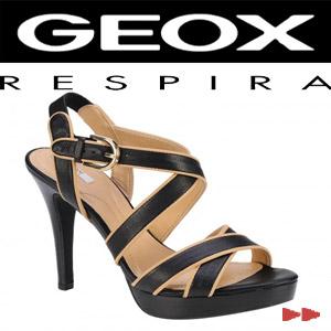 Sandale elegante dama Geox Ivana Sand negru