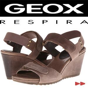 Sandale platforma piele Geox D Alias piele culoare maro