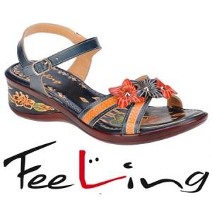 Sandale Feeling din piele pentru femei