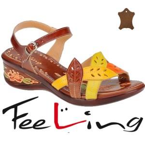 Sandale lejere din piele maro Feeling