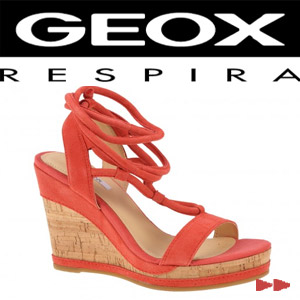 Sandale platforma casual dama Geox Peonia coral