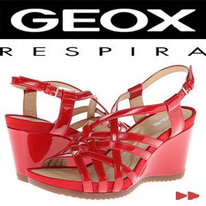 Sandale din piele pentru femei marca GEOX