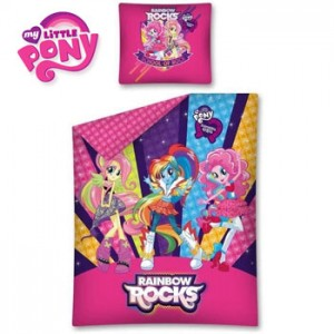 Set Lenjerie Pat Copii My Little Pony Equestria Girls din bumbac 100%