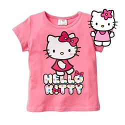 Tricou fetite Hello Kitty maneca scurta