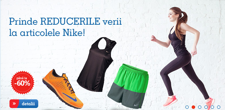 Nike barbati, femei si copii la preturi reduse. Reducerile eMAG Fashion
