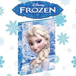 Biblioraft A4 cu inele Disney Frozen Regina Zapezii Anna