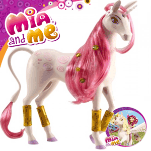 Figurina Jucarie Unicornul Lyria din desenele animate Mia and Me