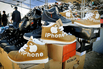 Funny Fakes iPhone Shoes