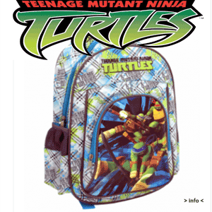 Ghiozdan de gradinita Pigna Ninja Turtles pentru baieti