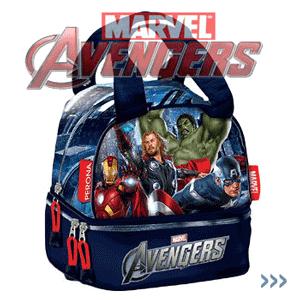 Geanta de mana baieti Marvel The Avengers pentru pranz