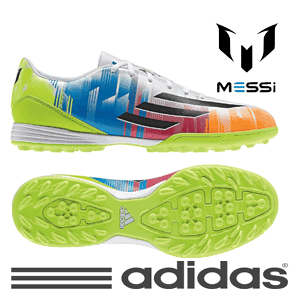 Ghete fotbal barbati Adidas F10 Messi Trx Mens Football Trainers