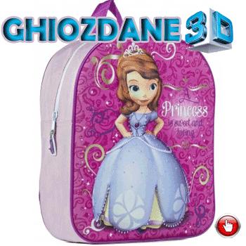Ghiozdan 3D Noriel Printesa Sofia Intai