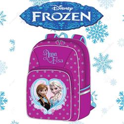 Ghiozdan mare Disney Frozen Anna si Elsa