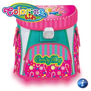 Ghiozdan anatomic Colorino Candy Shop pentru fetite