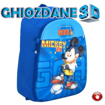 Ghiozdan clasele I-IV Mickey Mouse 3D