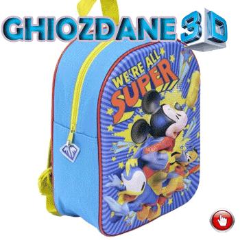 Ghiozdan de gradinita Mickey Mouse 3D