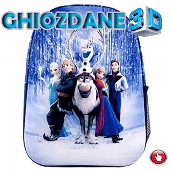 Ghiozdan gradinita 3D Disney Frozen