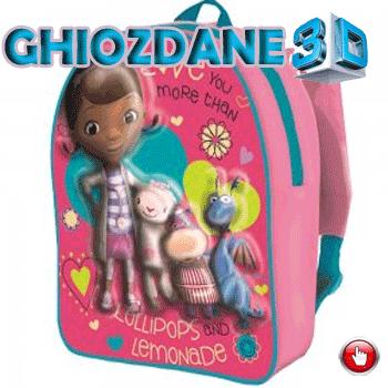 Ghiozdan gradinita 3D Doctorita Plusica
