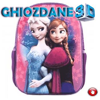 Ghiozdan gradinita 3D Frozen Ana si Elsa
