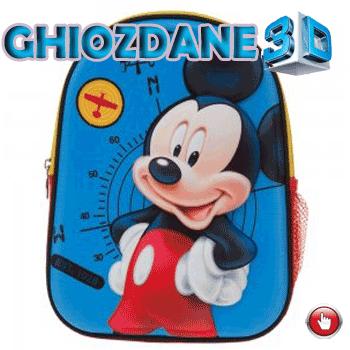 Ghiozdan gradinita 3D Mickey Mouse 25 cm