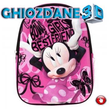 Ghiozdan gradinita 3D Minnie Mouse 25 cm