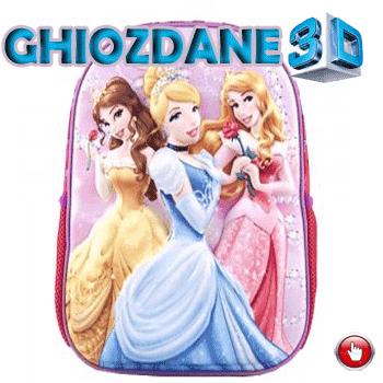 Ghiozdan gradinita 3D Disney Princess