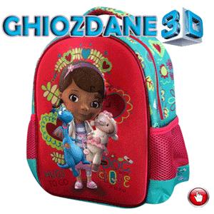 Ghiozdan gradinita Doctorita Plusica 3D pentru fetite