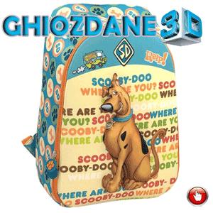 Ghiozdan imprimat 3D cu personaje Scooby Doo