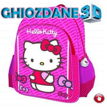 Ghiozdan mare 3D Hello Kitty pentru fetite