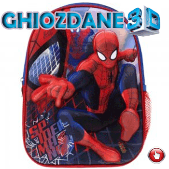 Ghiozdan mic de gradinita 3D Spiderman