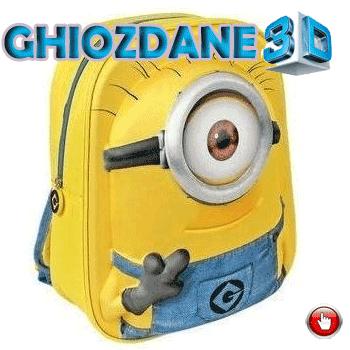 Ghiozdan pentru copii de gradinita 3D Minions EVA