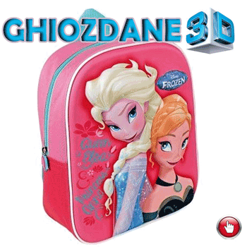 Ghiozdan rucsac 3D Disney Frozen
