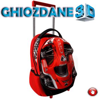 Ghiozdan tip troller gradinita 3D Sport Rosu