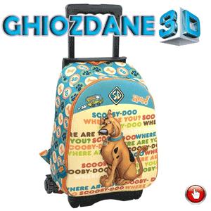 Ghiozdan troler Scooby Doo 3D