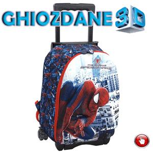 Ghiozdan troller clasele I-IV Spiderman 3D oval