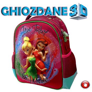 Ghiozdane 3D pentru fetite gradinita Zane Disney Fairies