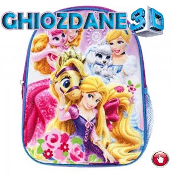 Ghiozdane cu imagini 3D Frumoasele Printese Disney