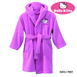 Halat de baie din bumbac Hello Kitty fetite 2-4 ani