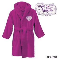 Halat de baie pentru fete 4-12 ani Violetta Music Disney din bumbac gros absorbant