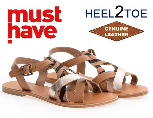 Sandale Heel to Toe din piele naturala