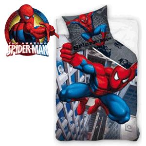 Lenjeria de pat baieti Spiderman City 160 x 200 cm