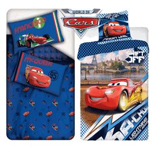 Lenjerie de pat Disney Pixar Cars Shift Off din bumbac pentru baieti