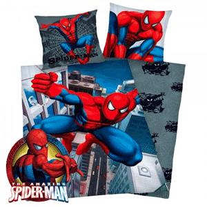 Lenjerie de pat Spiderman cu doua fete 135 x 200 cm