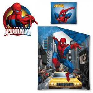 Lenjerie de pat pentru baieti Eroii Marvel Spiderman