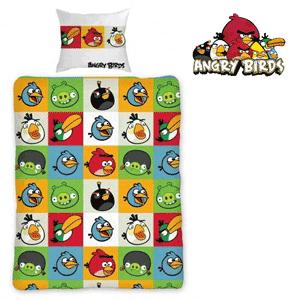 Lenjerie de pat pentru baieti cu tema Angry Birds