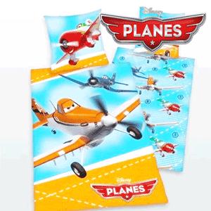 Lenjerii de pat din bumbac de calitate pentru baieti personaje Disney Planes.