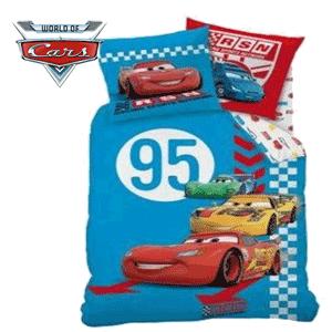 Lenjerii de pat din bumbac pentru copii Disney Cars