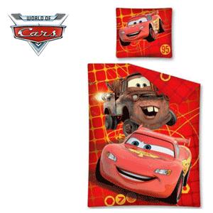 Lenjerii din bumbac pilota si perna Disney Cars 95 Friends